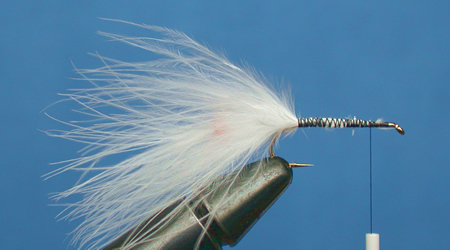 How to Add a Bead into a Marabou Tail Step 5